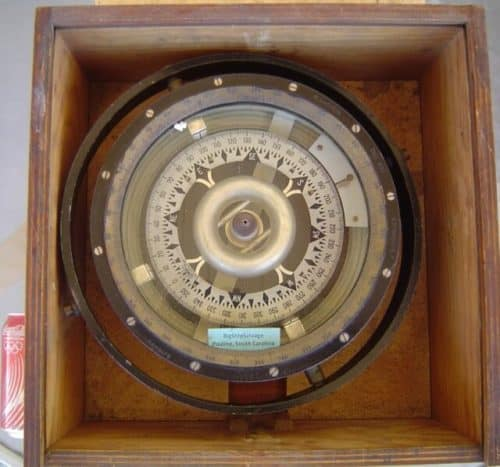 German Magnetic Compass With Original Box