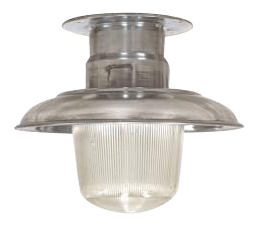 Polished Aluminum Ceiling Light