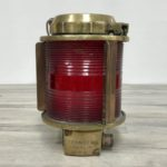 Cast Brass Red Lens Nautical Wall Mount Light