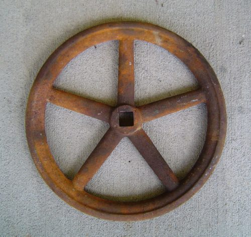 original watertight ship's door wheel