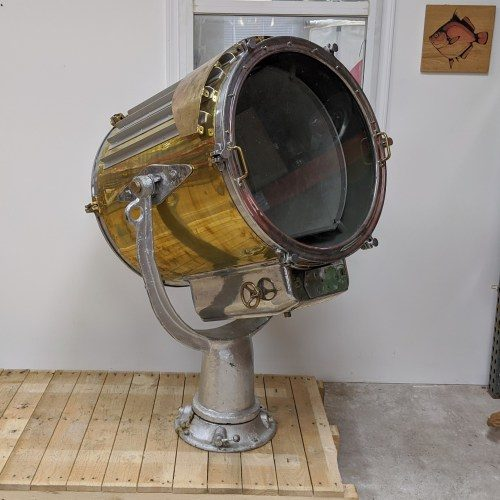 Massive Nautical Brass Search Light