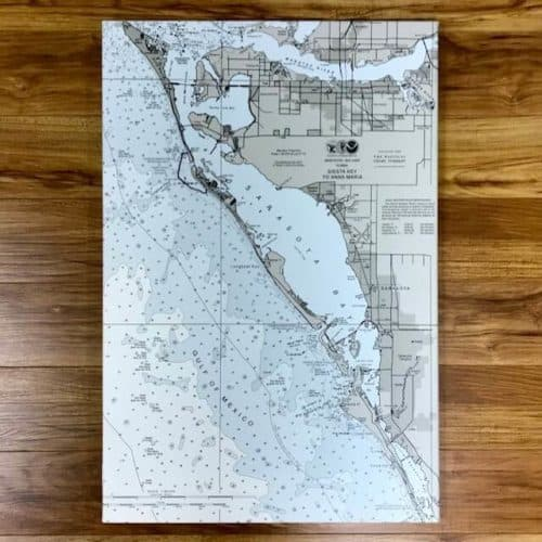 Tampa Bay: Siesta Key to Anna Maria Nautical Chart