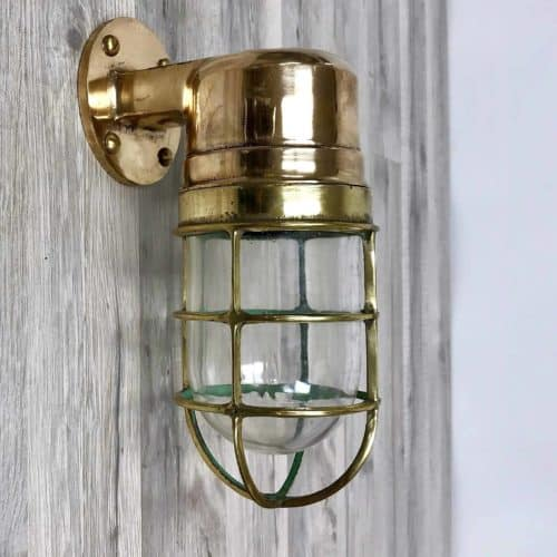 Solid Red/Yellow Brass Passageway Lights