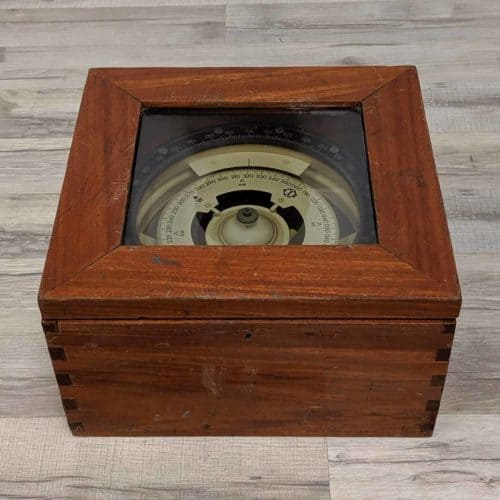 Brazilian Magnetic Compass with Original Box - Coester S/A Equipment Electronics
