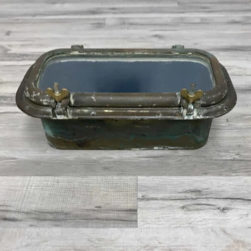 Authentic Nautical Rectangular Brass Porthole