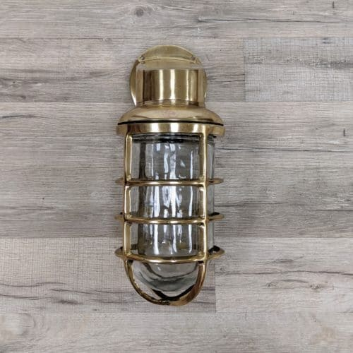 Extra Large Brass Bulkhead Light