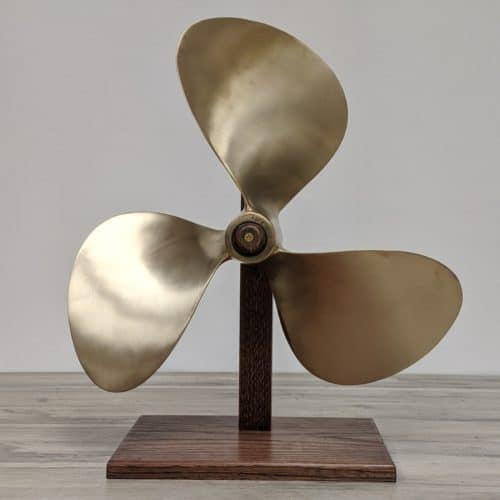 18 Inch Brass Propeller with or without Display Stand
