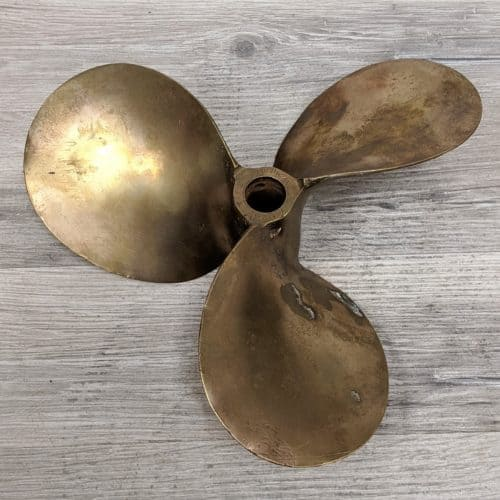 Vintage Brass Michigan Propeller - 10 Inch Diameter
