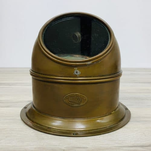 Vintage Brass Perko Lifeboat Binnacle
