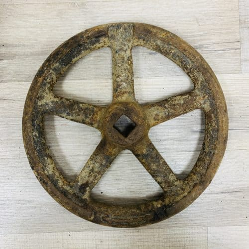 Cast Iron Vintage Grey Valve Wheel