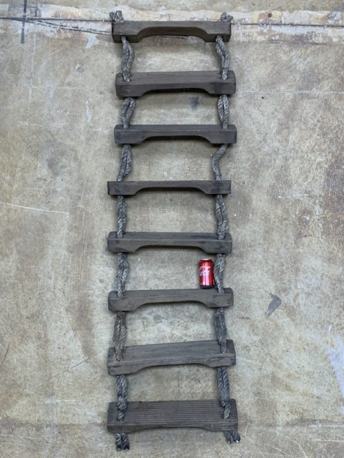 8 Step Nautical Rope Wood Ladder