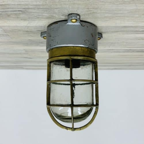 Engine Room Ceiling Light With Grey Painted Base