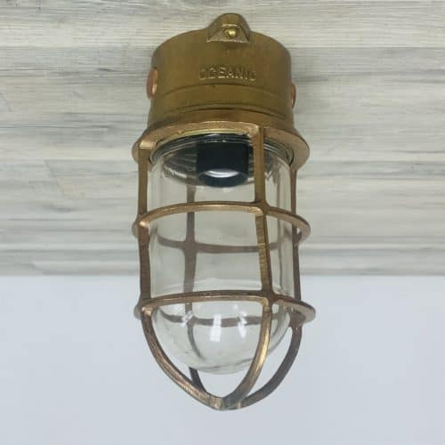 Vintage Oceanic Brass Ceiling Light