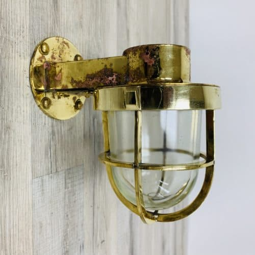 Weathered Super Polished Brass Wall Sconce