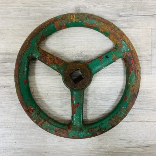 Green Ship's Valve Wheel - 9.75 Inches