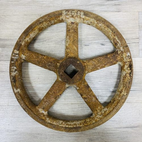 Grey Nautical Valve Control Wheel - 9.75 Inches