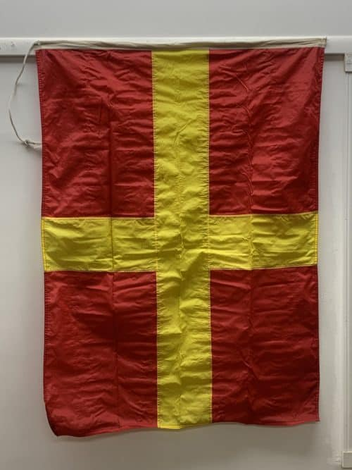 Letter R Romeo Nautical Signal Flag - 35 x 48