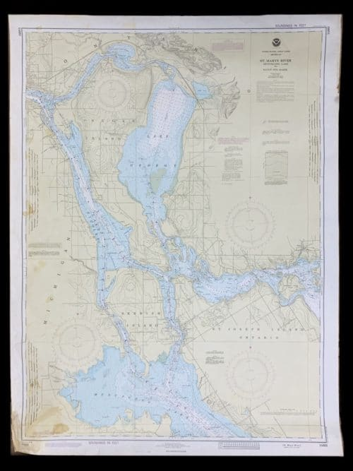 Vintage STR. Kinsman Enterprise - Great Lakes - Lake Michigan - St. Marys River - NOAA Nautical Chart -14883