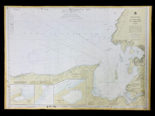 Vintage STR. Kinsman Enterprise - Great Lakes - Lake SuperiorMichigan - St. Marys River To Au Sable Point - NOAA Nautical Chart -14962