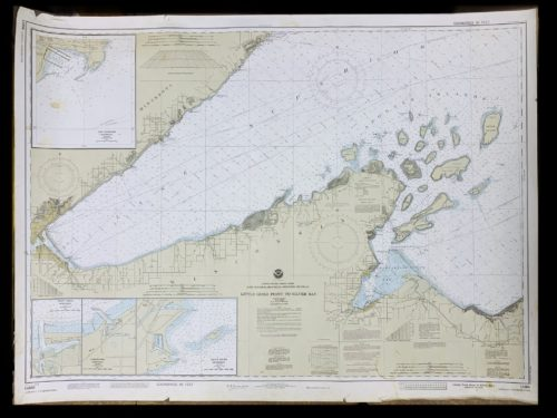 Vintage STR. Kinsman Enterprise - Little Girls Point To Silver Bay - Great Lakes - Lake Superior - NOAA Nautical Chart -14966