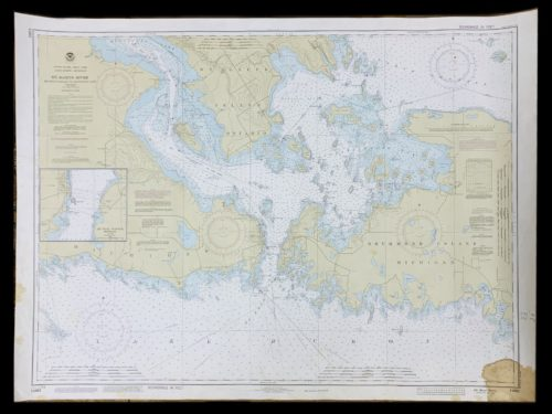 Vintage STR. Kinsman Enterprise - St. Marys River - Great Lakes - Lake HuronMichigan - NOAA Nautical Chart -14882