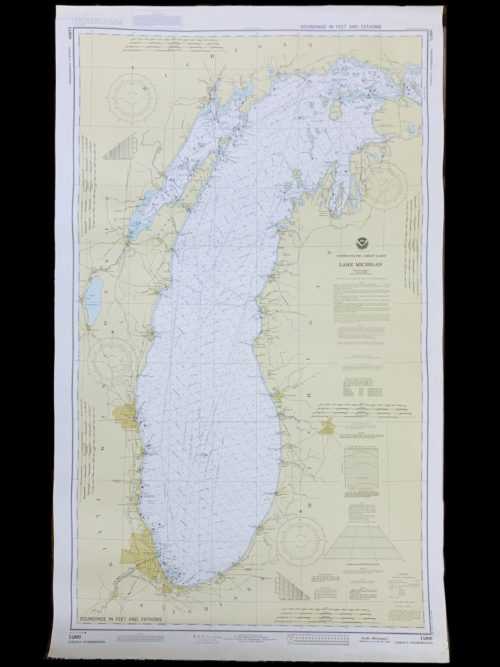 Vintage United States - Lake Michigan - Great Lakes - NOAA Nautical Chart -14900