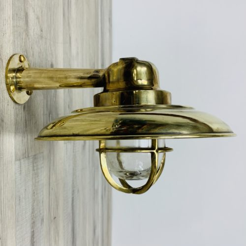 Cast Brass Wall Light With Arm