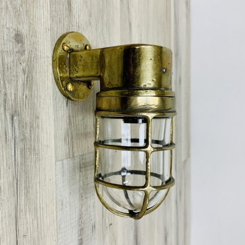 Vintage Nautical Brass Wall Sconce