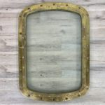 Vintage Curved Edge Salvaged Brass Deadlight 20 x 28 Inch - With Or Without Mirror